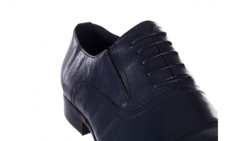 Półbuty brooman ja190-708a-j15 niebieski, skóra naturalna  - półbuty - buty męskie - mężczyzna 5