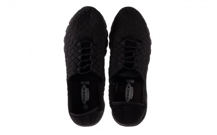 Trampki rock haneda men black, czarny, materiał 4