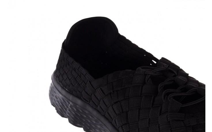Trampki rock haneda men black, czarny, materiał 5