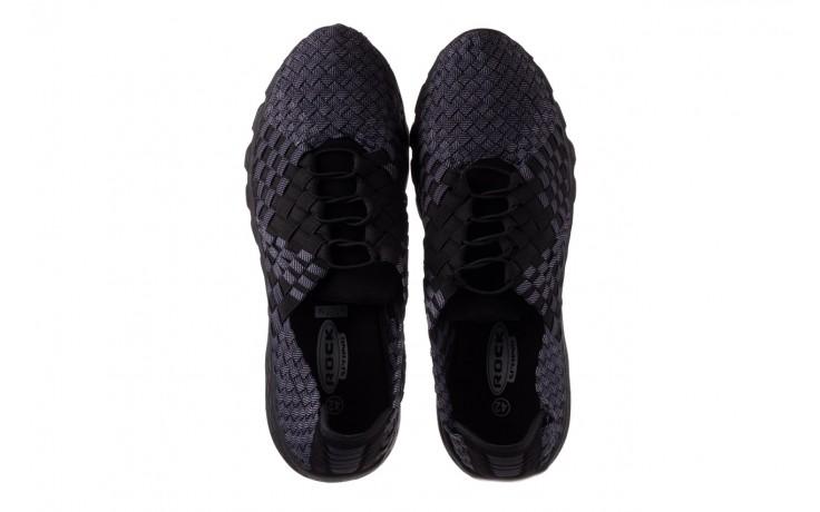 Trampki rock haneda men black ratan, granat/ czarny, materiał - sale - buty męskie - mężczyzna 4