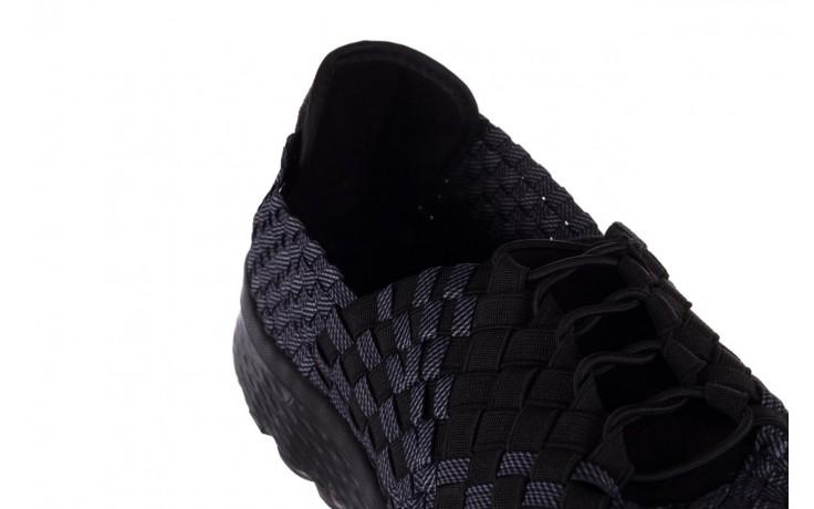 Trampki rock haneda men black ratan, granat/ czarny, materiał - sale - buty męskie - mężczyzna 5