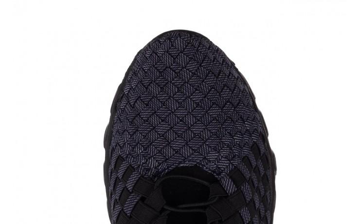 Trampki rock haneda men black ratan, granat/ czarny, materiał - sale - buty męskie - mężczyzna 6
