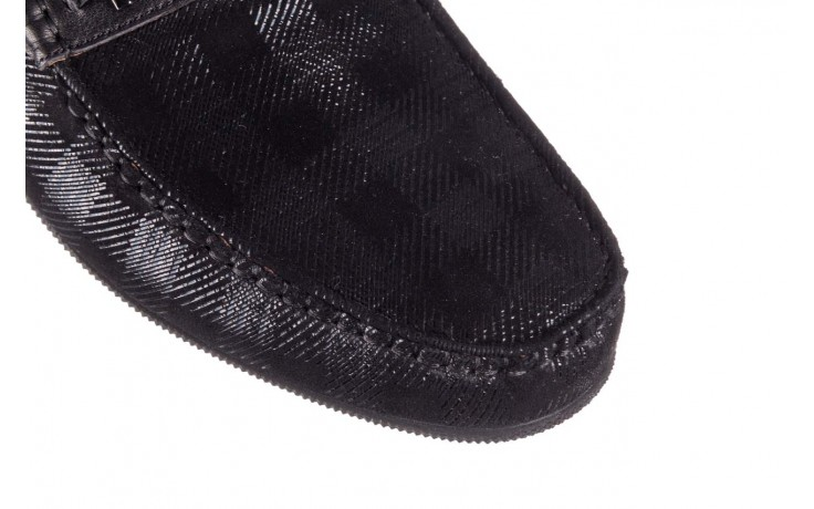 Mokasyny john doubare 628a-3-h04x czarny, skóra naturalna  - brooman - nasze marki 5