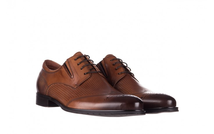 Półbuty john doubare db19-314-c79 brązowy, skóra naturalna - półbuty - buty męskie - mężczyzna 1