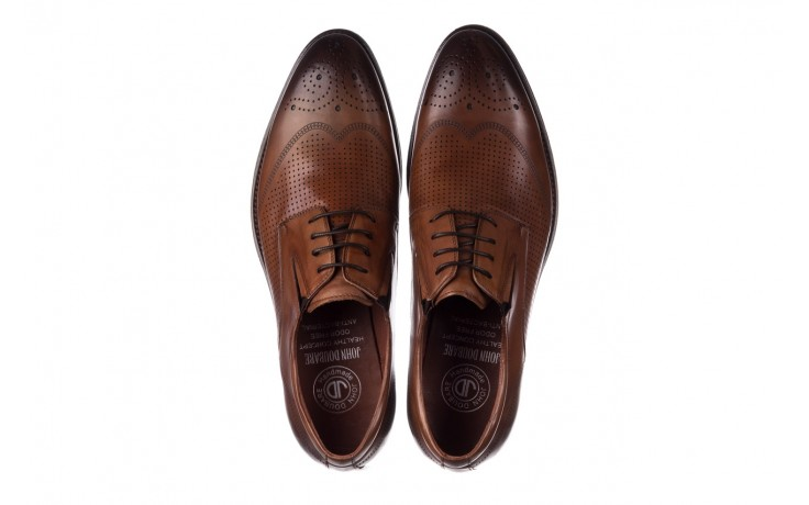 Półbuty john doubare db19-314-c79 brązowy, skóra naturalna - półbuty - buty męskie - mężczyzna 4