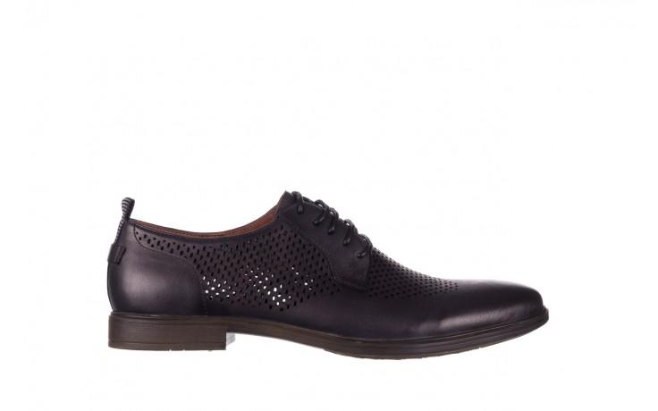 Półbuty john doubare a025-11 szary/ czarny, skóra naturalna  - sale - buty męskie - mężczyzna