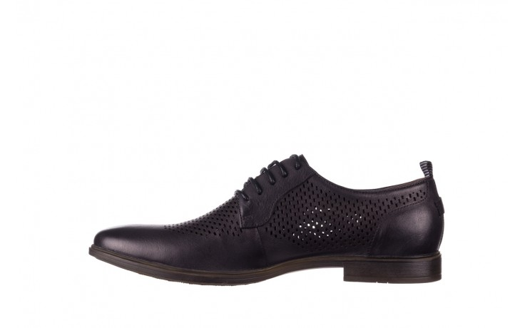 Półbuty john doubare a025-11 szary/ czarny, skóra naturalna  - sale - buty męskie - mężczyzna 2