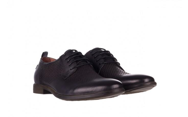 Półbuty john doubare a025-11 szary/ czarny, skóra naturalna  - sale - buty męskie - mężczyzna 1