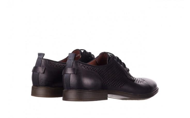 Półbuty john doubare a025-11 szary/ czarny, skóra naturalna  - sale - buty męskie - mężczyzna 3