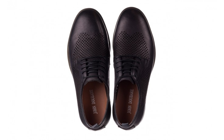 Półbuty john doubare a025-11 szary/ czarny, skóra naturalna  - sale - buty męskie - mężczyzna 4