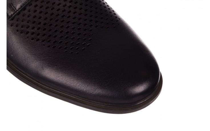 Półbuty john doubare a025-11 szary/ czarny, skóra naturalna  - sale - buty męskie - mężczyzna 5