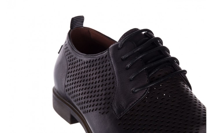 Półbuty john doubare a025-11 szary/ czarny, skóra naturalna  - sale - buty męskie - mężczyzna 6