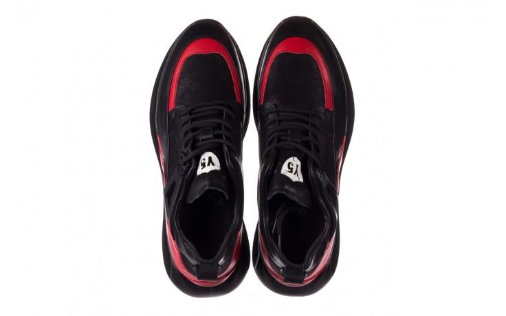 Trampki john doubare f858-1 czarny, skóra naturalna  - wysokie - trampki - buty męskie - mężczyzna 4