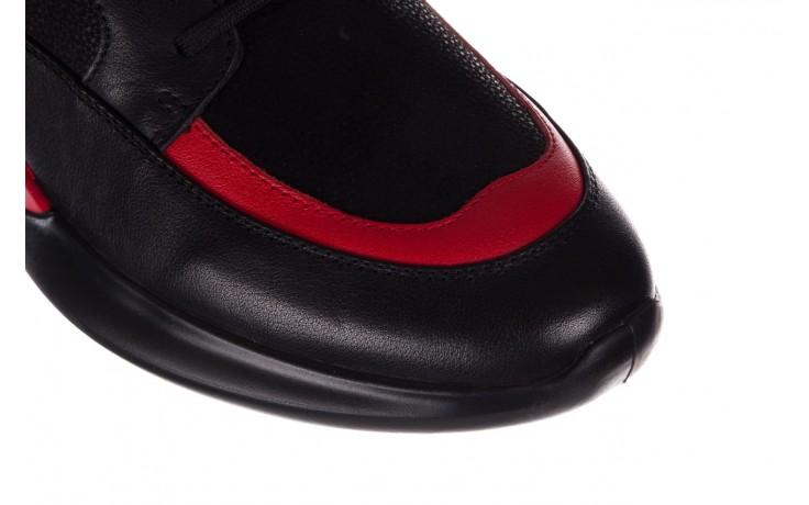 Trampki john doubare f858-1 czarny, skóra naturalna  - wysokie - trampki - buty męskie - mężczyzna 5