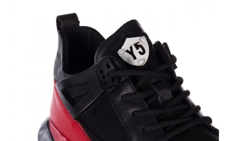 Trampki john doubare f858-1 czarny, skóra naturalna  - wysokie - trampki - buty męskie - mężczyzna 6
