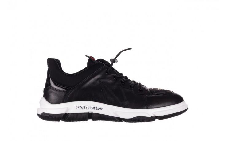 Trampki john doubare f1808-1 czarny, skóra naturalna  - niskie - trampki - buty męskie - mężczyzna
