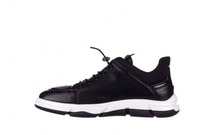 Trampki john doubare f1808-1 czarny, skóra naturalna  - niskie - trampki - buty męskie - mężczyzna 2