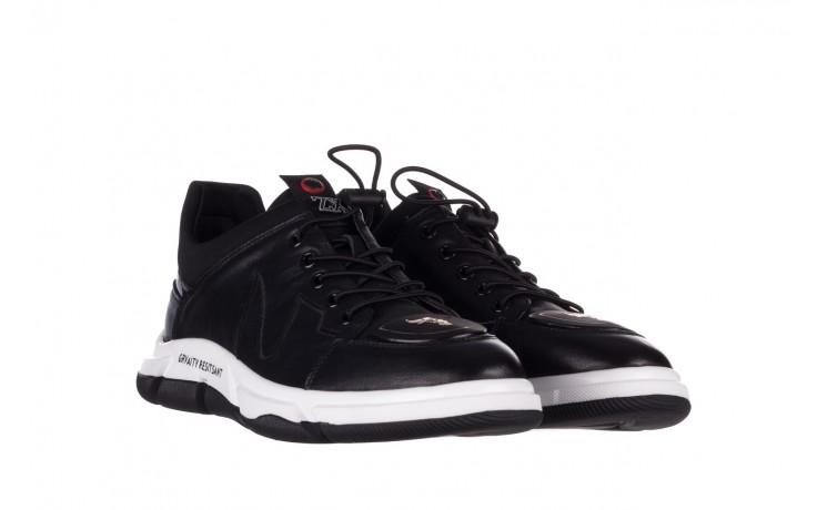 Trampki john doubare f1808-1 czarny, skóra naturalna  - niskie - trampki - buty męskie - mężczyzna 1