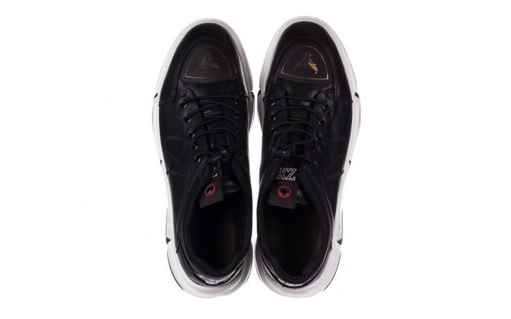 Trampki john doubare f1808-1 czarny, skóra naturalna  - niskie - trampki - buty męskie - mężczyzna 4