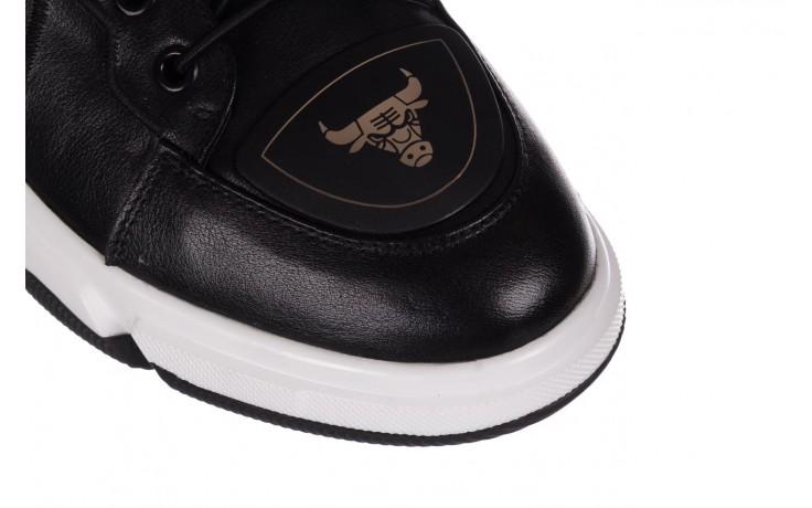 Trampki john doubare f1808-1 czarny, skóra naturalna  - niskie - trampki - buty męskie - mężczyzna 5