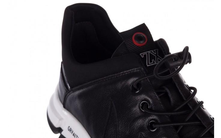 Trampki john doubare f1808-1 czarny, skóra naturalna  - niskie - trampki - buty męskie - mężczyzna 6
