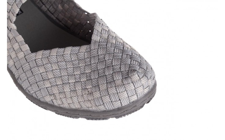Półbuty rock cape town lt grey ratan, szary, materiał - rock - nasze marki 6