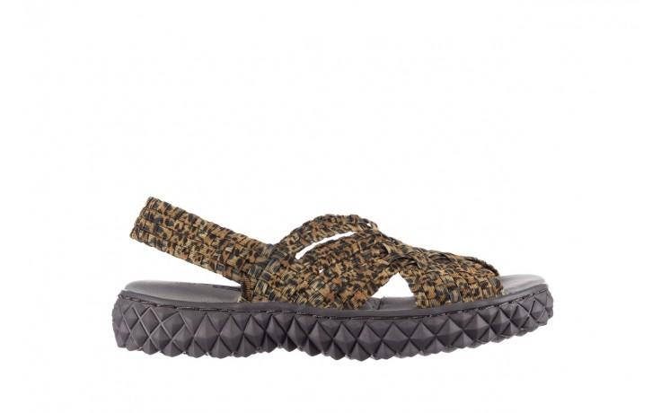 Sandały rock dakota 22 leopard, brąz, materiał - rock - nasze marki