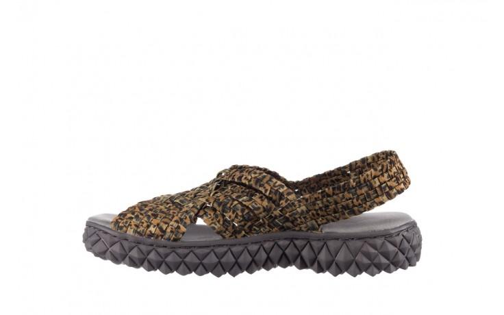 Sandały rock dakota 22 leopard, brąz, materiał 2
