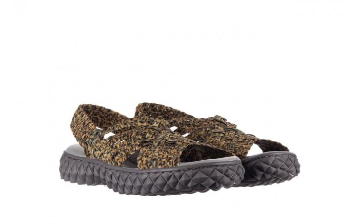 Sandały rock dakota 22 leopard, brąz, materiał 1