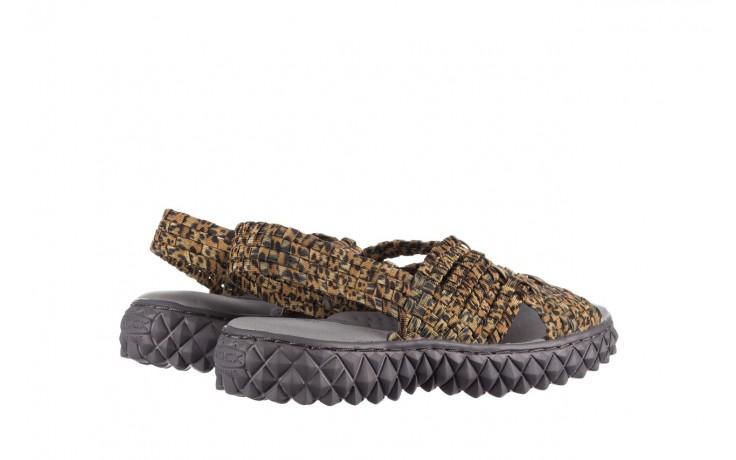 Sandały rock dakota 22 leopard, brąz, materiał 3