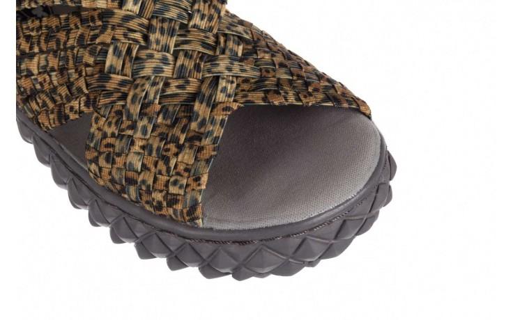 Sandały rock dakota 22 leopard, brąz, materiał 5