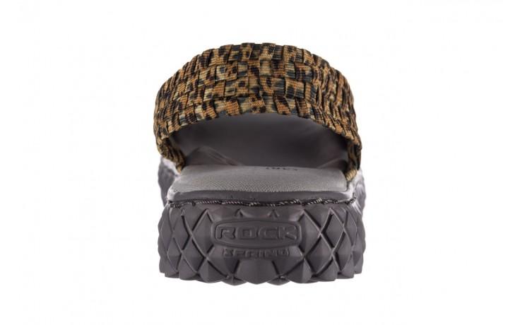 Sandały rock dakota 22 leopard, brąz, materiał 6