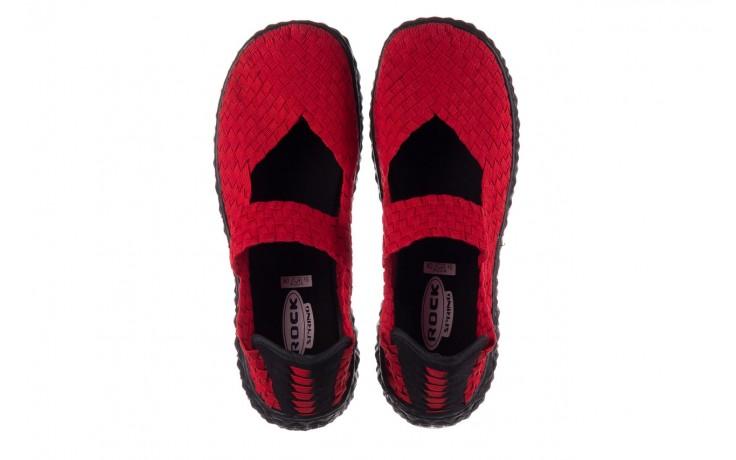 Półbuty rock over red 19, czerwony, materiał - rock - nasze marki 4