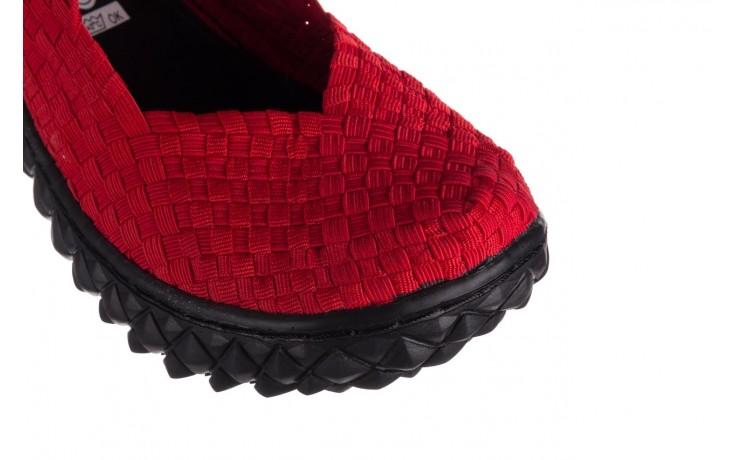 Półbuty rock over red 19, czerwony, materiał - rock - nasze marki 5