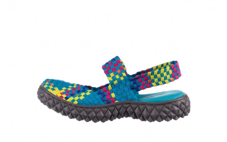 Sandały rock over sandal aqua-tutti frutti, niebieski, materiał - rock - nasze marki 2