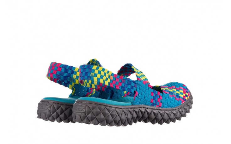 Sandały rock over sandal aqua-tutti frutti, niebieski, materiał - rock - nasze marki 3