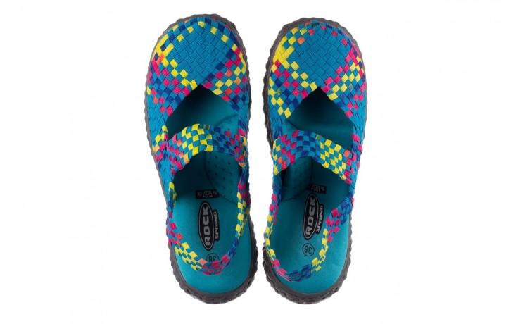 Sandały rock over sandal aqua-tutti frutti, niebieski, materiał - rock - nasze marki 4