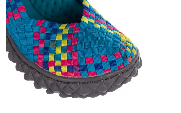 Sandały rock over sandal aqua-tutti frutti, niebieski, materiał - rock - nasze marki 5