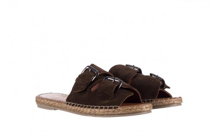 Klapki bayla-161 059 510 khaki, zielony, skóra naturalna  - klapki - buty damskie - kobieta 1