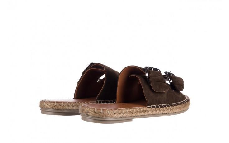 Klapki bayla-161 059 510 khaki, zielony, skóra naturalna  - klapki - buty damskie - kobieta 3