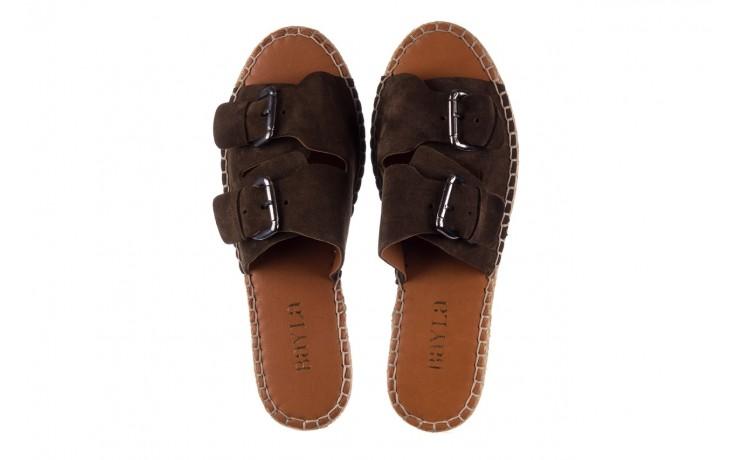 Klapki bayla-161 059 510 khaki, zielony, skóra naturalna  - klapki - buty damskie - kobieta 4