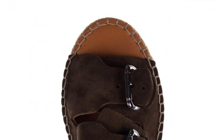 Klapki bayla-161 059 510 khaki, zielony, skóra naturalna  - klapki - buty damskie - kobieta 5