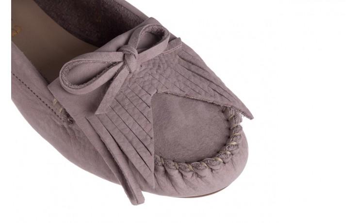 Mokasyny bayla-161 093 388 6005 srebrny szary 161043, skóra naturalna  - mokasyny i lordsy - półbuty - buty damskie - kobieta 5