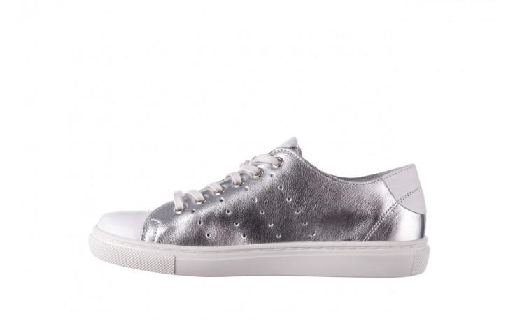 Trampki bayla-161 093 90135 srebrny biały 161048, skóra naturalna  - trampki - buty damskie - kobieta 2