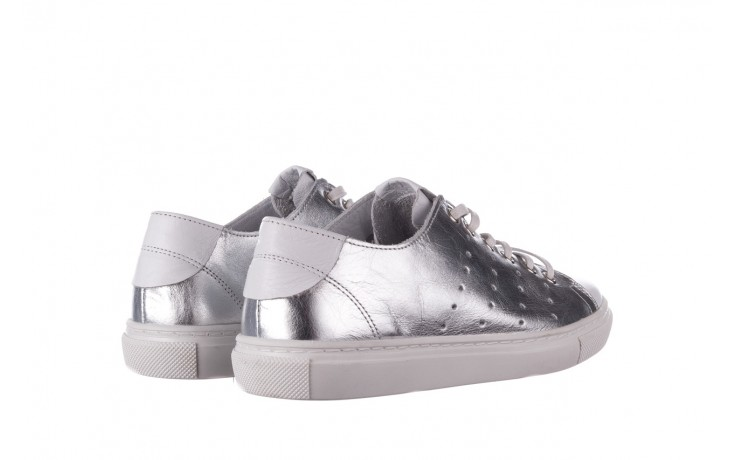 Trampki bayla-161 093 90135 srebrny biały 161048, skóra naturalna  - trampki - buty damskie - kobieta 3