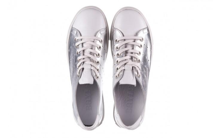 Trampki bayla-161 093 90135 srebrny biały 161048, skóra naturalna  - trampki - buty damskie - kobieta 4