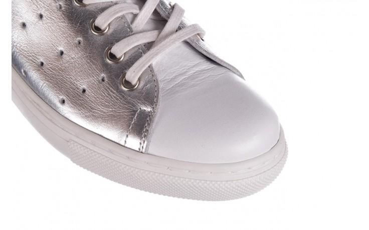 Trampki bayla-161 093 90135 srebrny biały 161048, skóra naturalna  - trampki - buty damskie - kobieta 5