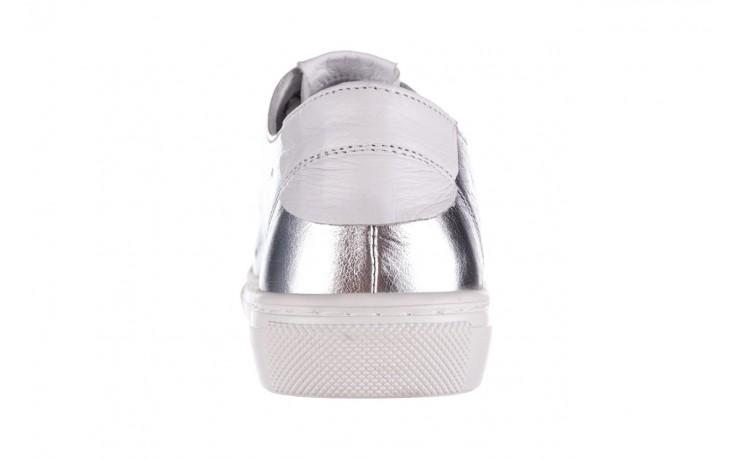 Trampki bayla-161 093 90135 srebrny biały 161048, skóra naturalna  - trampki - buty damskie - kobieta 6