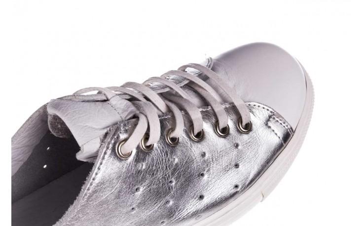 Trampki bayla-161 093 90135 srebrny biały 161048, skóra naturalna  - trampki - buty damskie - kobieta 7