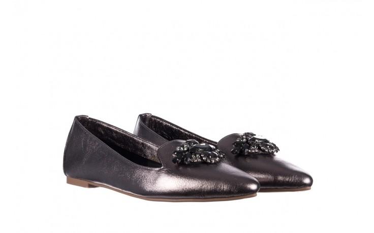 Baleriny bayla-161 093 388 4024 platinum 20, nikiel, skóra naturalna  - skórzane - baleriny - buty damskie - kobieta 1